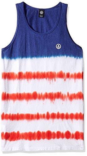 Neff Dye - NEFF Men's Dye Stripes Tank, Dye Stripes Murica, Small