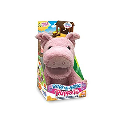 Mindscope Sing-A-Song Puppets Electronic Singing Animal Puppets Make Animal Noises And Also Sing Old Macdonald And If You Are Happy And You Know It (Pig): Office Products