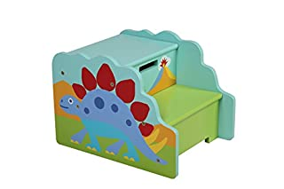 Wildkin Step 'n Store Stool, Children's Two Step Stool with Convenient Top Storage Compartment and Carrying Handle, Perfect for Staying Organized, Olive Kids Design – Dinosaur (B01C05IBH6)   Amazon Products