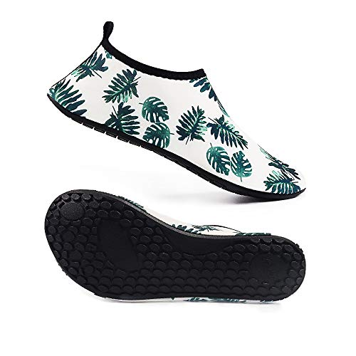 Water Shoes for Women and Men Barefoot Quick Dry Aqua Sock Shoes for Beach Swimming Surf Yoga Snorkeling (XL(W:7.5-8, M:6.5-7.5), TS14) by TOPSION