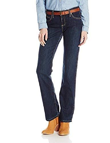 Wrangler Women's Q-Baby Mid Rise Boot Cut Ultimate Riding Jean, Dark Blue, 22X34
