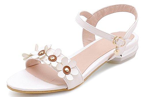 mit und Blumen weißen Damen Täschchen Schnallen Aisun wO4ZExE