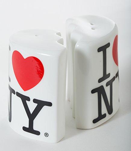 (I Love NY Salt and Pepper Shaker Set - Officially Licensed New York City)