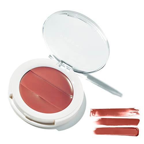 3-in-1 Lip + Cheek Cream. Coconut Extract for Radiant, Dewy, Natural Glow - UNDONE BEAUTY Lip to Cheek Palette. Blushing, Highlighting & Tinting. Sheer to Opaque Color. Vegan & Cruelty Free. Rosewood