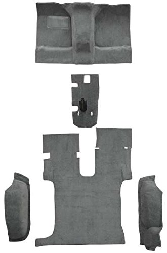 - 1985 to 1995 Suzuki Samurai Carpet Custom Molded Replacement Kit, Complete Kit Without Rollbar Cutouts (802-Blue Plush Cut Pile)