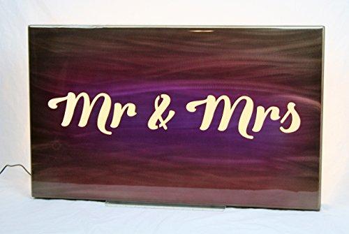 Mr & Mrs Custom Airbrushed Painting Aluminum Backlit Art Panel