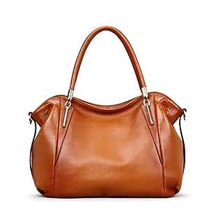 Fashion Business Handbag Casual Leather Women's Bag Simple Durable Large Capacity Shoulder Bag (FM),A