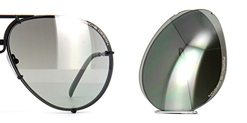 (Original Porsche Design Lenses Set Only - For Model P8478-100% Authentic (V655 - Grey gradient silver mirrored, 66))