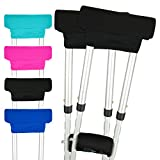 Vive Crutch Pads - Padding for Walking Arm Crutches - Universal Underarm Padded Forearm Handle Pillow Covers for Hand Grips - Soft Foam Armpit Bariatric Accessories for Adults, Kids (1 Black Pair) Larger Image