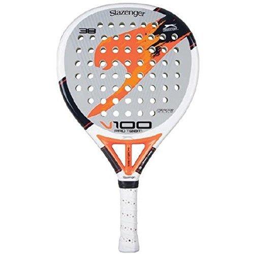 Slazenger Pro Team Tennis Bat - White/Grey/Orange, 38 mm by ...