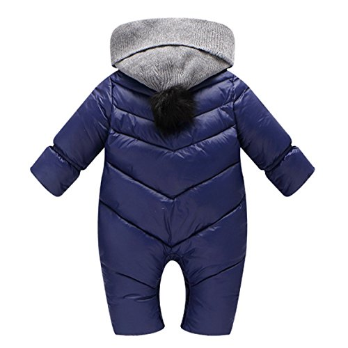 Winter Hooded Baby Happy Infant Cherry Romper Newborn Coat Outerwear Snowsuit Thick Jumpsuit Blue gqwUw46E