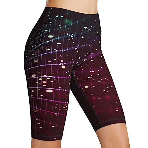Inaayayi Hoge taille Yoga Shorts Neon Grid Lines Creative Art vrouwen Biker Shorts Tummy Control Fitness Atletische…