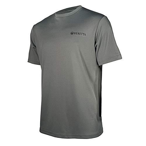 Beretta Mens US TECH T Shirt; Grey Castlerock; Large