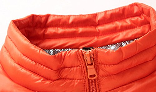 shell Collare Zip Trapuntato Pesce Base Chouyatou Uomo Di Palla Arancione Full Piumino Soft 0q0rUw