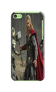 TPU fashionable Chris Hemsworth Thor Design Plastic Hard Case for iphone 5c