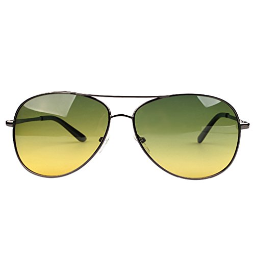 Lunettes Aviateur Noir LINNUO Hommes Driving Femmes Cadre Jaune Vert Protection UV Conduire Sunglasses Polarisées Eyewear Soleil Lentille de TdTfrxt