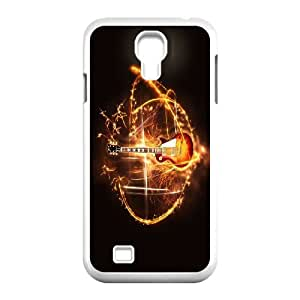 [Tony-Wilson Phone Case] For SamSung Galaxy S4 Case -IKAI0446307-Love Guitar Pattern
