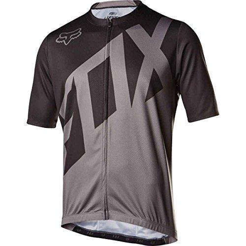 Fox Racing Livewire Jersey - Short Sleeve - Men's Black/Charcoal, XL ()