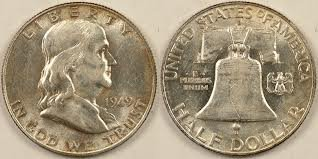 Perfect Game Silver Coin - 1949 P Philadelphia Mint Silver Franklin Half Dollar