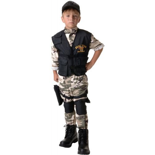 Underwraps Child Seal Team Costume Large (10-12) Black -