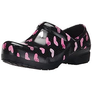 AnyWear Women's Srangel Work Shoe, Caring Is Love Pink Ribbon Print, 10 M US