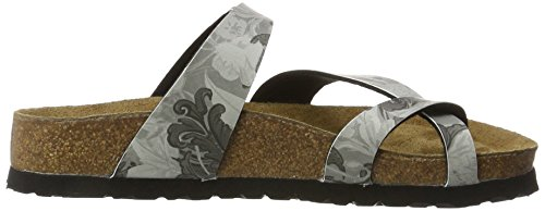 Damask Tabora Grey 11511 Softfootbed Chanclas Mujer para Multicolor Papillio Birko Flor xF8qdwTZT