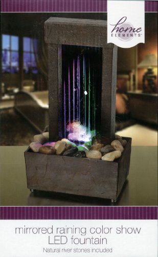 Home Elements - Mirrored Raining Color Show LED Fountain