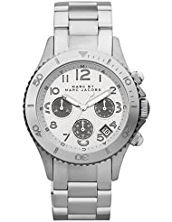 Marc by Marc Jacobs Womens Rock Chronograph Watch, Silver, One Size