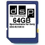 DSP Memory Z-4051557427181 64GB Ultra High Speed Speicherkarte für Sony DSC-RX100 III Digital Kamera