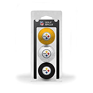 NFL Pittsburgh Steelers 3 Golf Ball Pack from SteelerMania