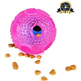 SANTIAOTUI Interactive Dog Toy - IQ Treat Ball Food Dispensing Toys for Small Medium Dogs Durable Food Dispensing Chew Dog Ball - Nontoxic Rubber and Bouncy Dog Ball (Dog Toys)