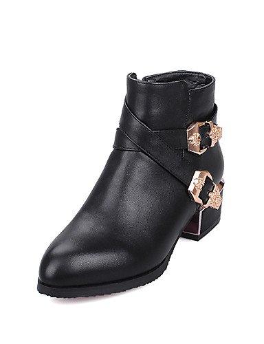 Uk6 Chaussures Eu39 5 Noir décontracté Talon Éclair Fermeture chaussons femme Gray Marche us8 Cn40 hiver rouge Chunky gris 5 Automne Xzz Bottes Mode Bottes Robe pB45qg1wg