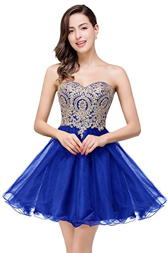 MisShow Womens Evening Dresses Knee Length Cocktail Ball Gown Royal Blue US14