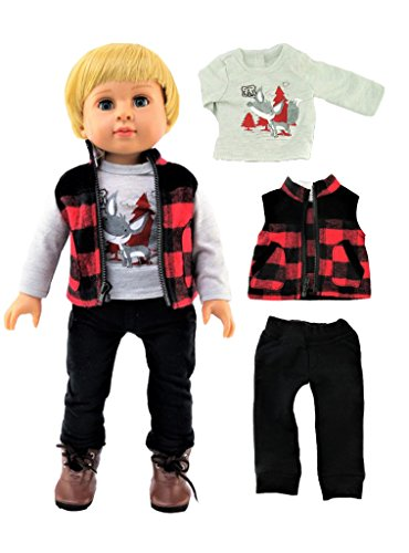 2360212e94a07 Outdoorsy Boy Outfit 3pc. Fits 18