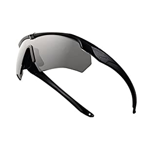 Ballistic Military Goggles 3LS, 4LS 5LS Kit Polarized Army Sunglasses Men's Tactical Eyeshield (black, 4 Lenses (1 Polarized out of 4))