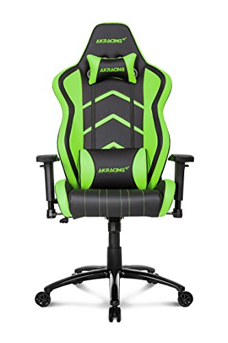 AKRacing Player Super-Premium Gaming Chair with High Backrest, Recliner, Swivel, Tilt, Rocker and Seat Height Adjustment Mechanisms with 5/10 warranty Green