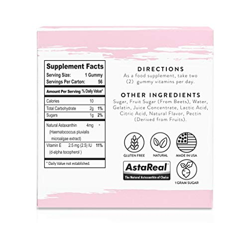 41EQmwEPAAL - Beauty Chews Antioxidant Supplement Gummies for Anti-Aging | Astaxanthin and Vitamin E | Boosts Skin Collagen, Repairs Skin Damage and Dark Spots for a Healthy Glow | 4 On-The-Go Weekly Gummy Pouches