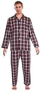 RK Classical Sleepwear Men's Woven Pajama Set,