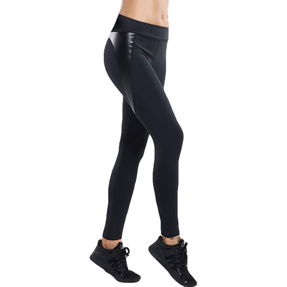 LooBoo Sport Leggings Damen Hohe Taille Yoga Hose Laufhose Damen Lang Leggins Stretch Hose Schwarz