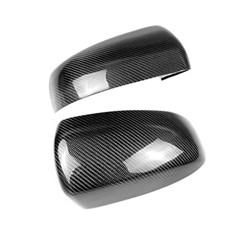 Idyandyans 1 Pair Rearview Mirror Carbon Fiber Mirror Cover Cap Replacement for BMW X Series E70 X5/X6 E71 ()