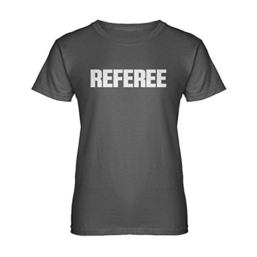 [Womens Referee T-Shirt Charcoal Grey XX-Large] (Out Of Your League Costumes)