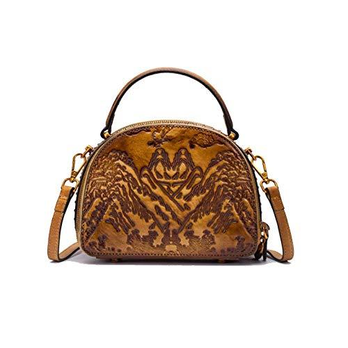 moda borsa minimalista retrò cinese Borsa etnica donna lightcoffee stile viaggio tYxOqwSZ