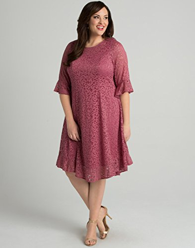 Dress Lace Size Dusty Rose Women's Plus Kiyonna Livi qwEIRnX