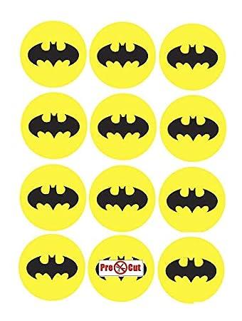40 X Pre Cut Batman Logo Kuchen, Cupcake Topper/Dekoration Essbar Wafer  Papier