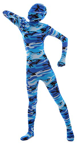 VSVO Full Body Costume (Kids Medium, Camo Blue) - Skin Suit Camo Child Costumes