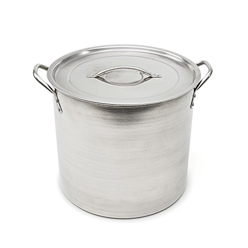 Good Cook 06182 Kitchen Basics Stainless Steel Stock Pot with Stainless Lid, 16 quart, - Quart Pot Aluminum 16 Stock