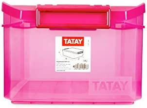TATAY 1150112 - Caja de Almacenamiento Multiusos con Tapa, 14 l de ...