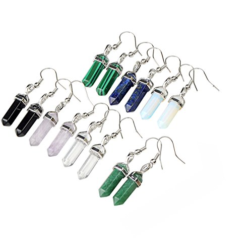 JOVIVI 14pcs Healing Gemstone Earring