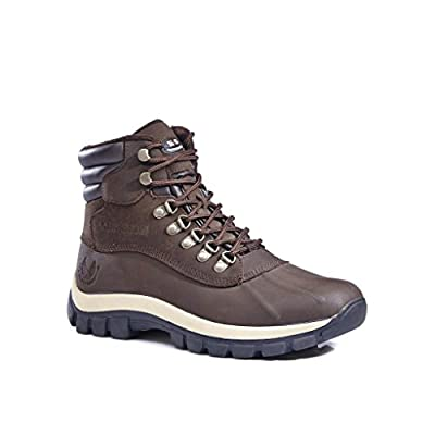 0705 Water Proof Men Rubber Sole Winter Snow Boots Brown size 12