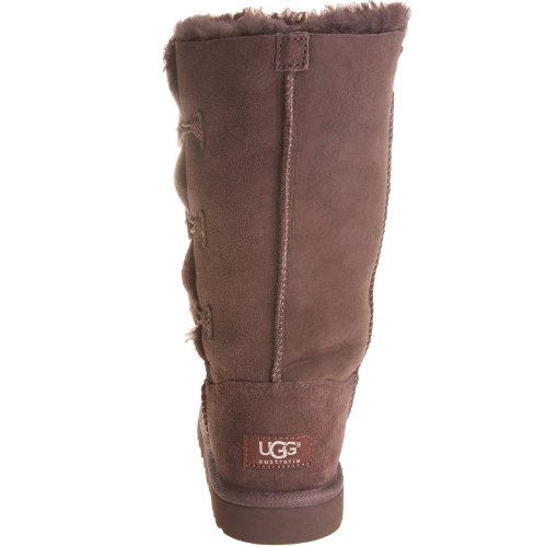Kid's UGG Bailey Button Triplet,Chocolate,size 1 by UGG (Image #2)